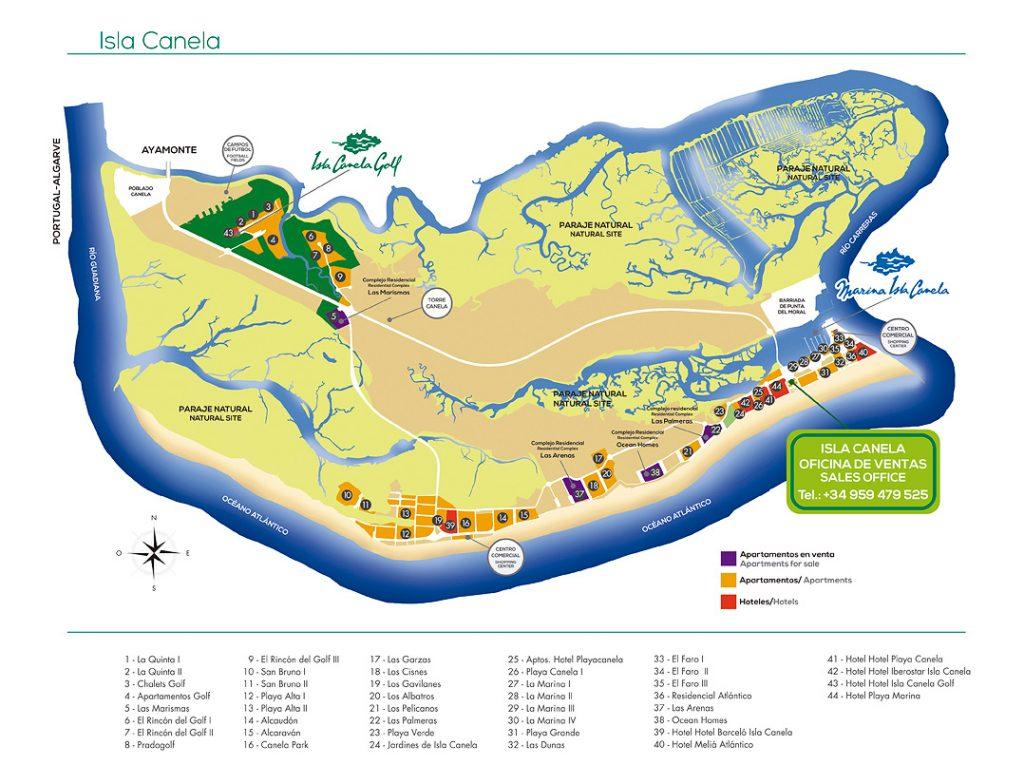 Costa De La Luz Spain Map.About Isla Canela Isla Canela