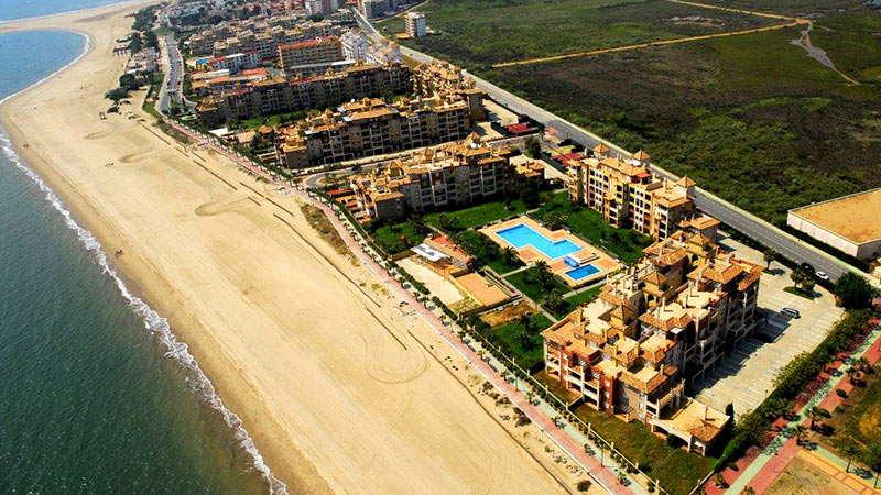 vista aerea playa isla canela